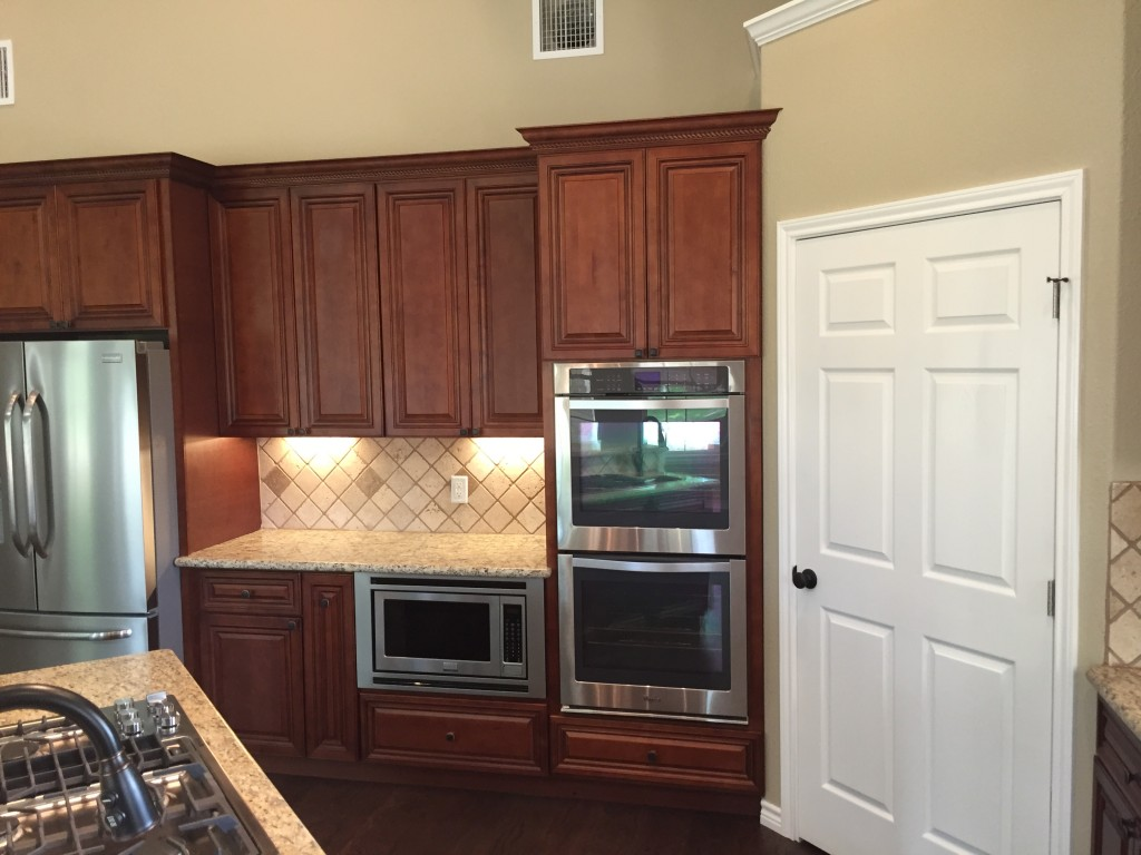 Premium cabinets process walk through premium cabinets for Double oven and microwave cabinet