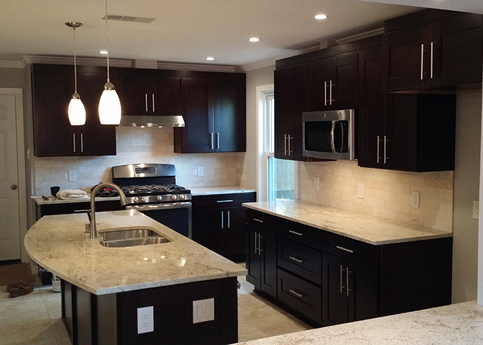 Chocolate shaker premium cabinets for Best big box store kitchen cabinets