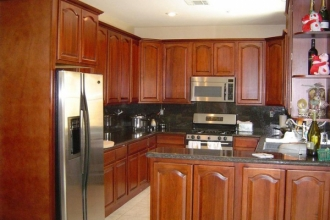 cherry walnut kitchen cabinets premium cabinets