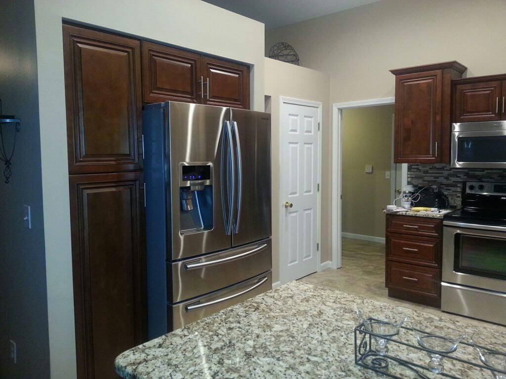 Bronze cherry premium cabinets for Best big box store kitchen cabinets