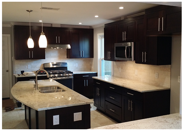 Cabinets Best Matched With Dark Appliances Premium Cabinets - Gray kitchen cabinets with black appliances