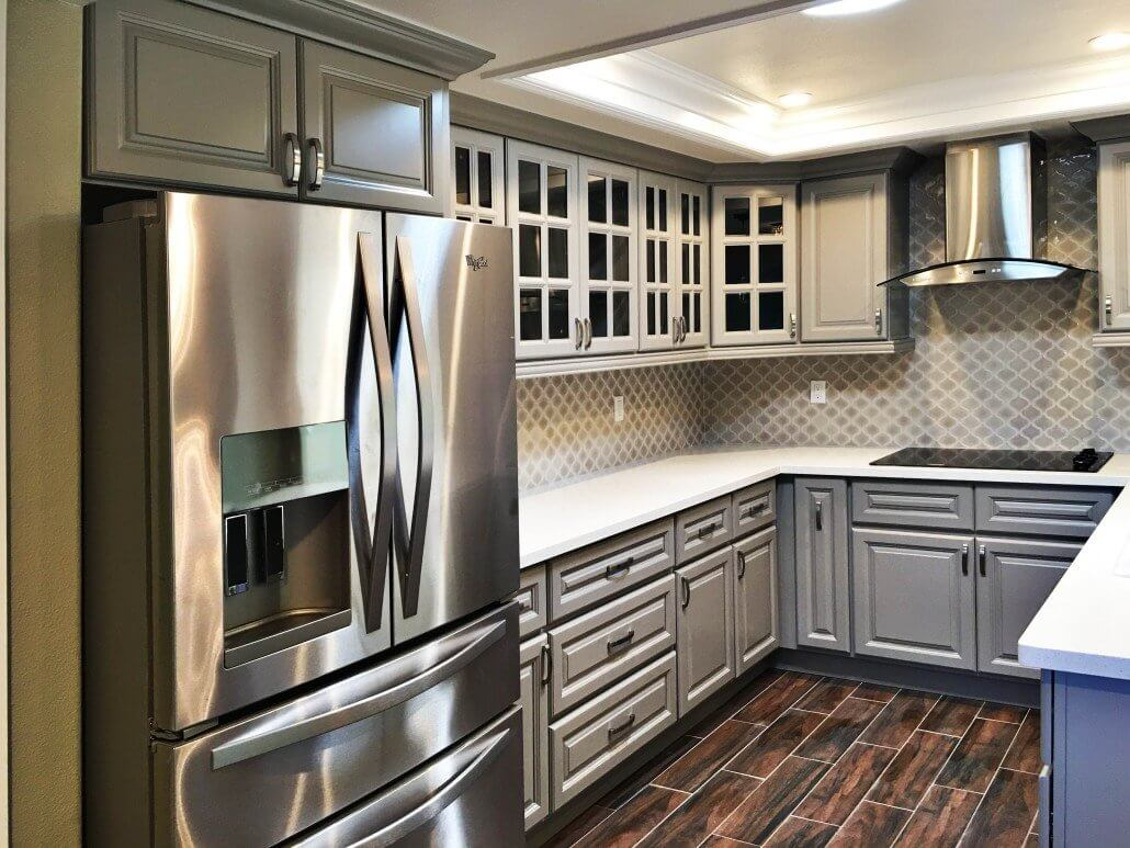 Anaheim gray premium cabinets for Best big box store kitchen cabinets
