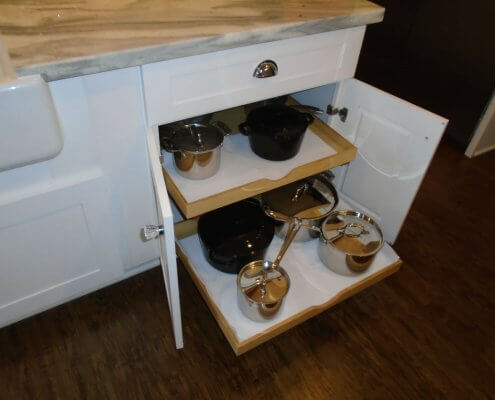 White Shaker Drawers