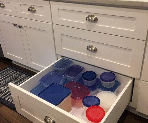 White Shaker Deep Kitchen Cabinet Drawers