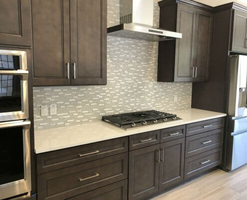 Stone Gray Shaker Cabinets in Kitchen