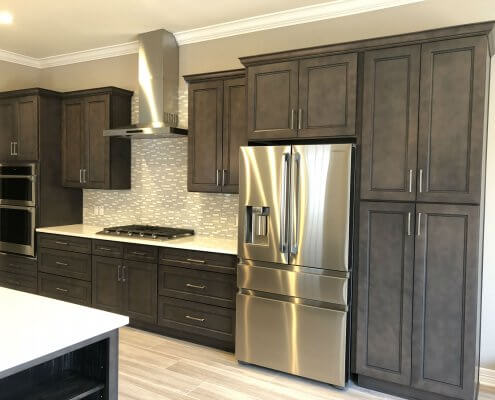 Stone Gray Shaker Kitchen Cabinets
