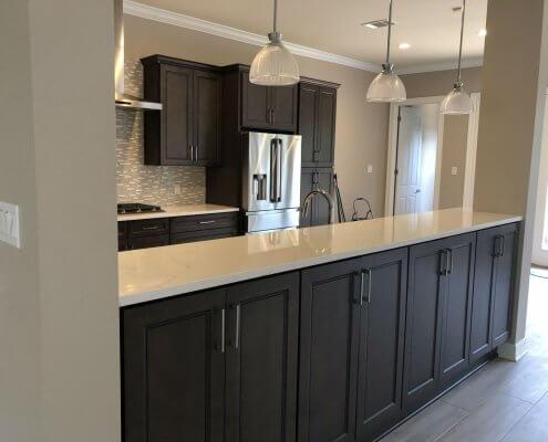Stone Gray Shaker Cabinets